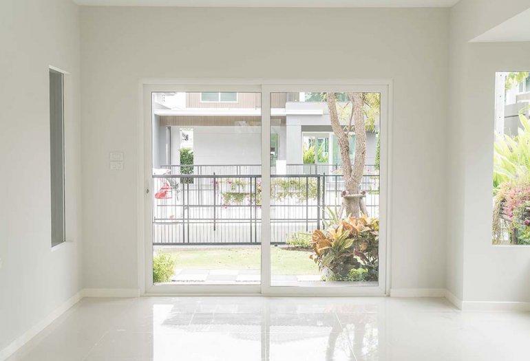 empty door in living room interior background